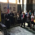 Foto zo slovenskej púte vo Westminsterskej katedrále