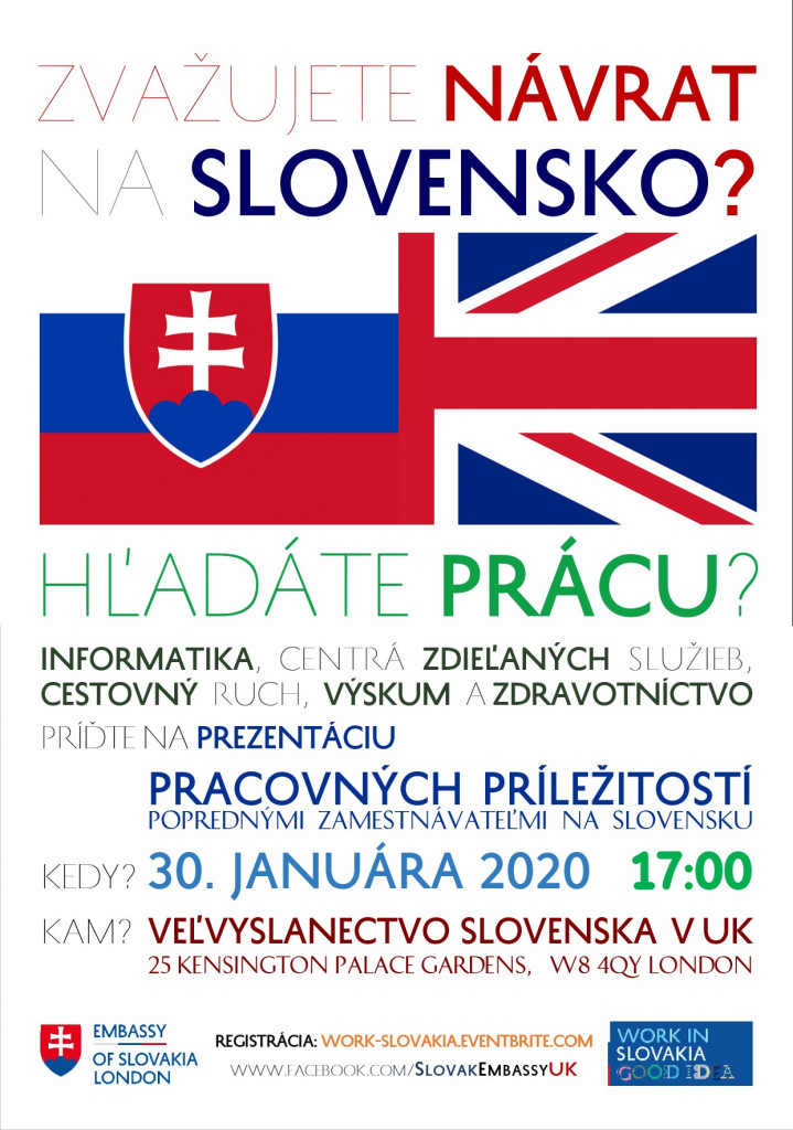 WORK IN SLOVAKIA - PLAGÁT